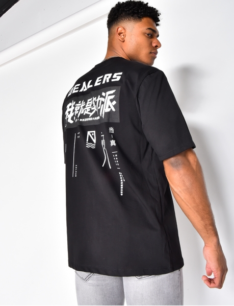 "T-shirt ""Dealers"" à graffitis"