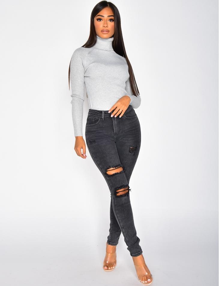 Jeans skinny destroy