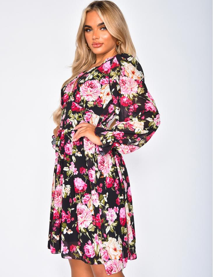 Robe à motifs fleurs