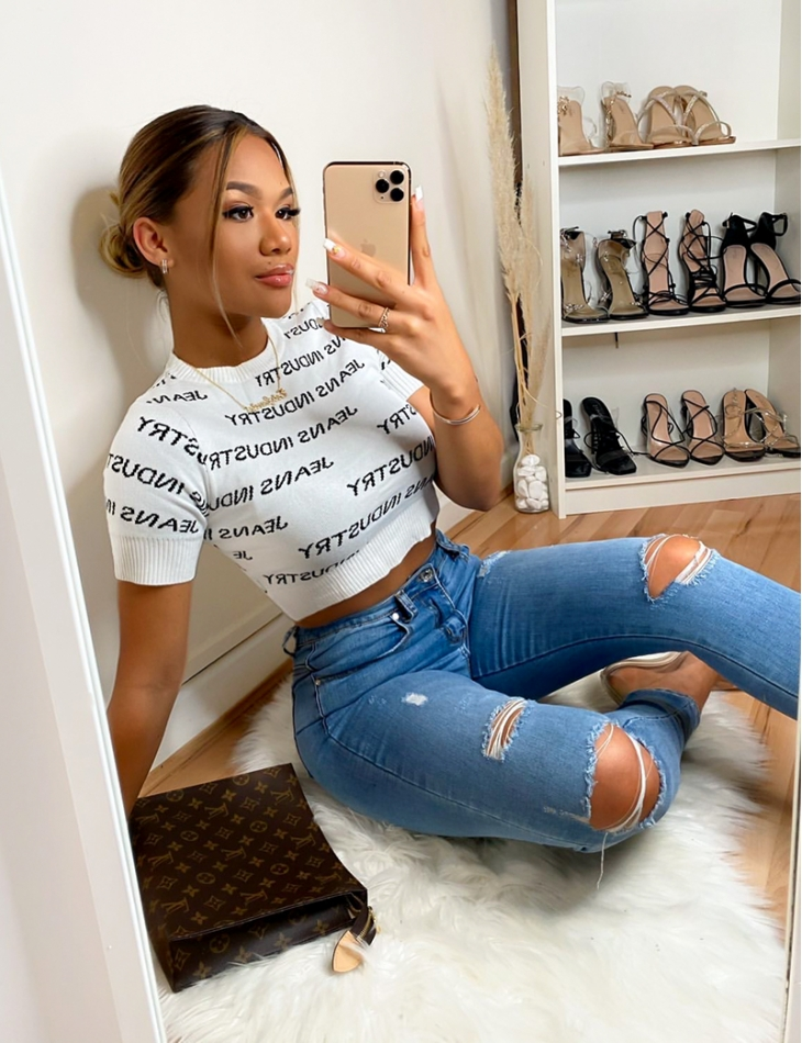 Jeans Industry Ribbed Crop Top