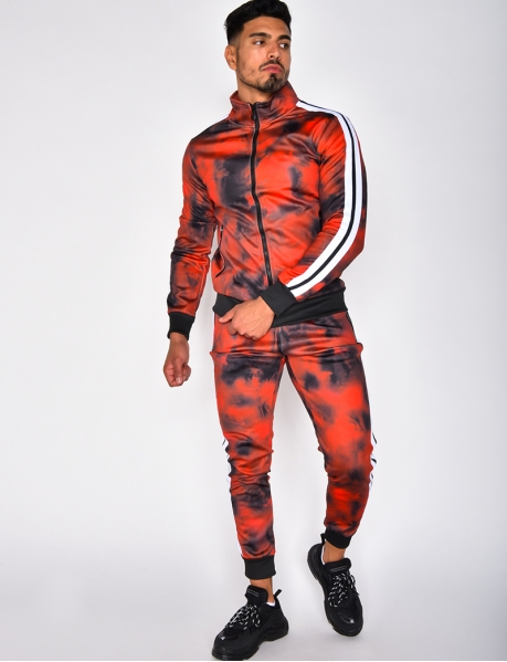 Tie Dye Tracksuit with Bands