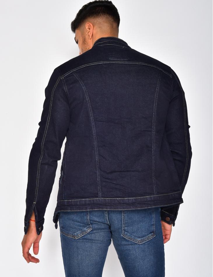 Veste en jeans à zip
