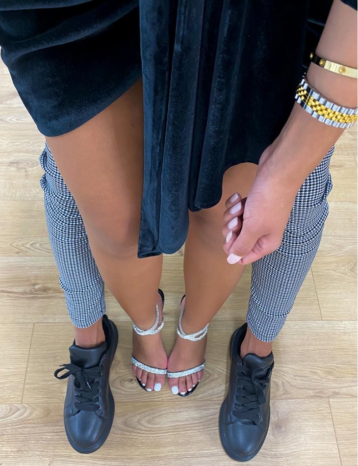 Sandales minimalistes à strass