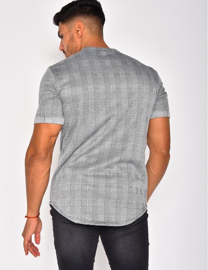 T-shirt à carreaux