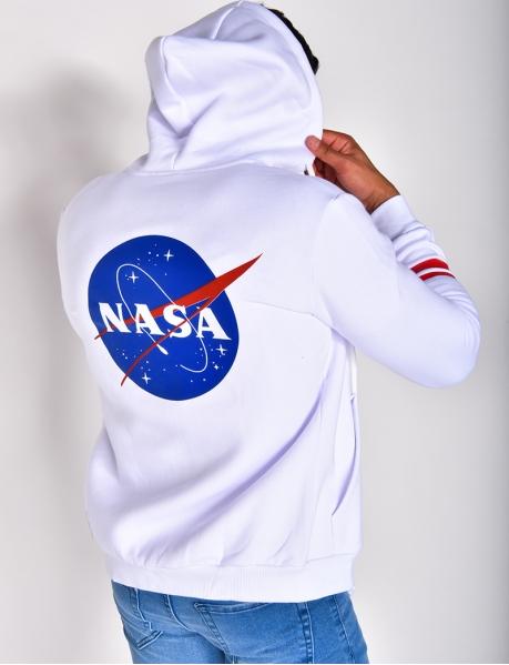Gilet NASA à zip et capuche