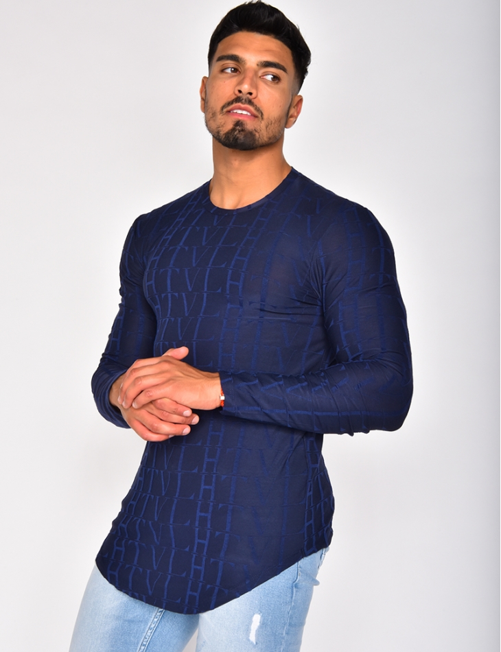 Long Sleeved T-shirt with Pattern