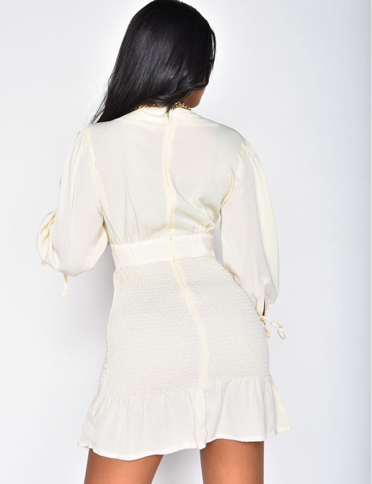 Robe froncée