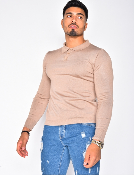 Long Sleeved Polo Shirt