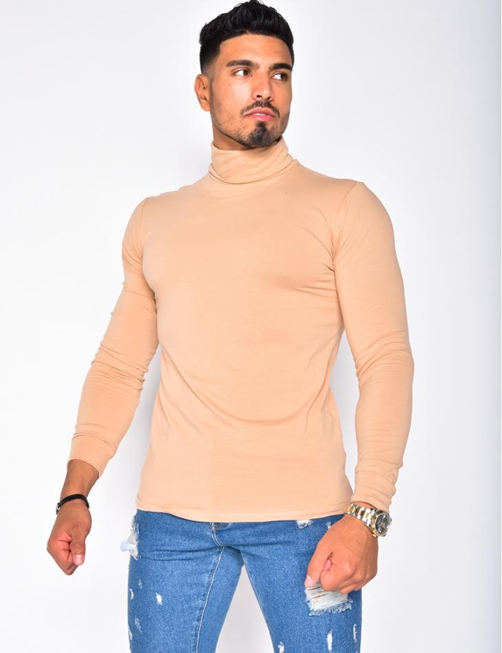 T-shirt manches longues col roulé
