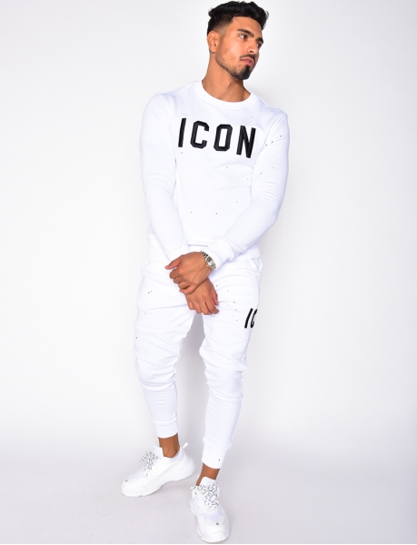 """Icon"" Sweatshirt and Jogging Bottoms Set"