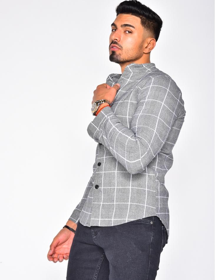 Checked Long Sleeved Shirt