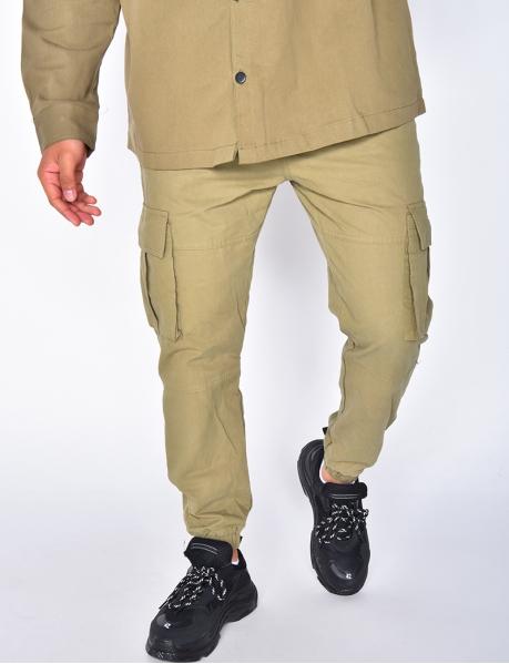 Pantalon cargo à ceinture