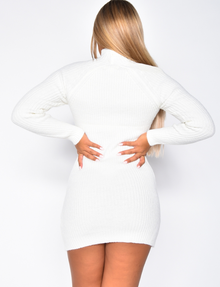 High Neck Jumper Dress