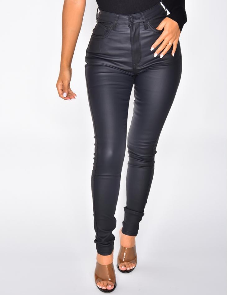 Pantalon taille haute skinny