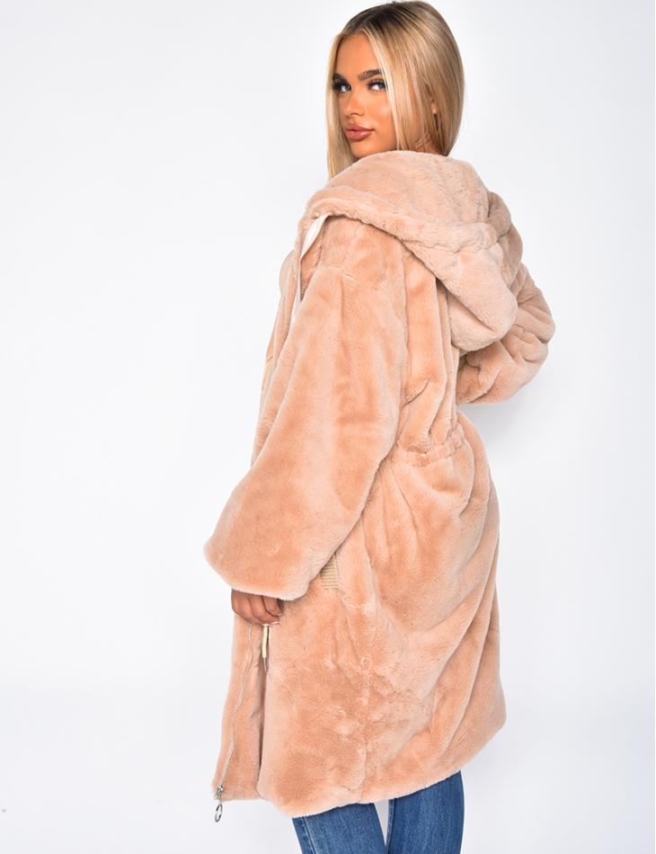 Long Faux Fur Jacket