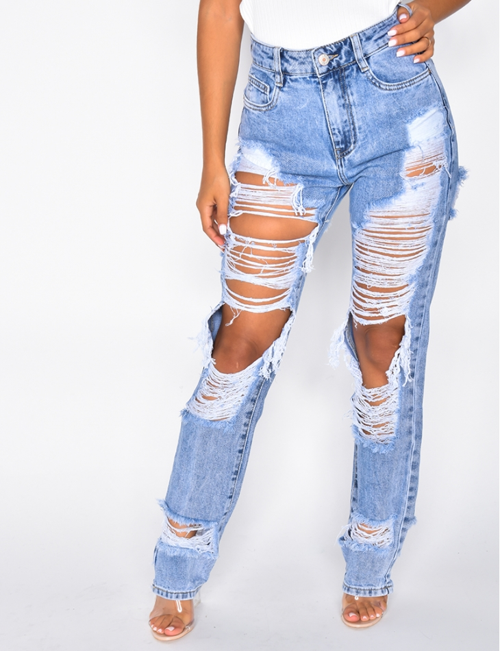 Ripped High Waisted Jeans