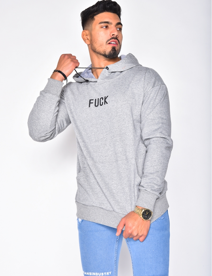 "Sweat à capuche ""Fuck"""