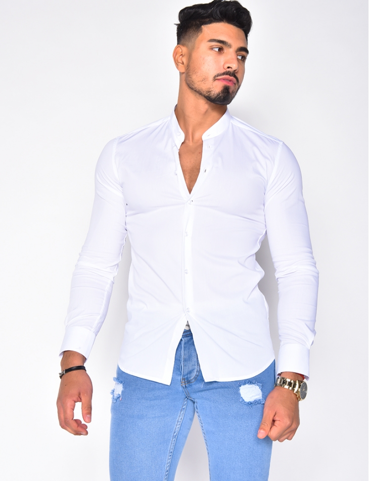 Chemise manches longues col rond