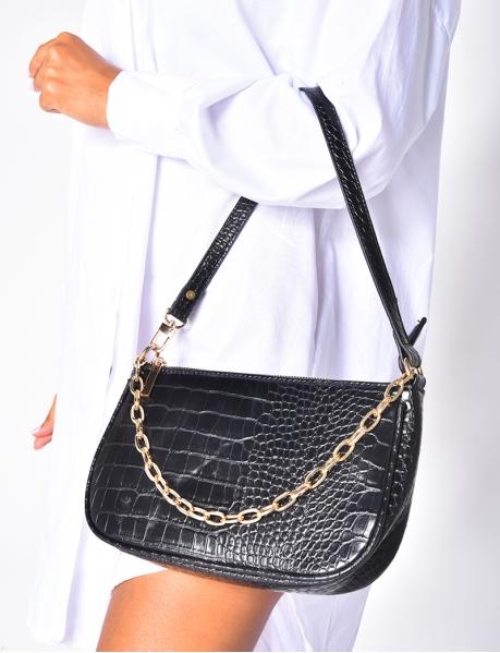 Handtasche Schlangenlederoptik