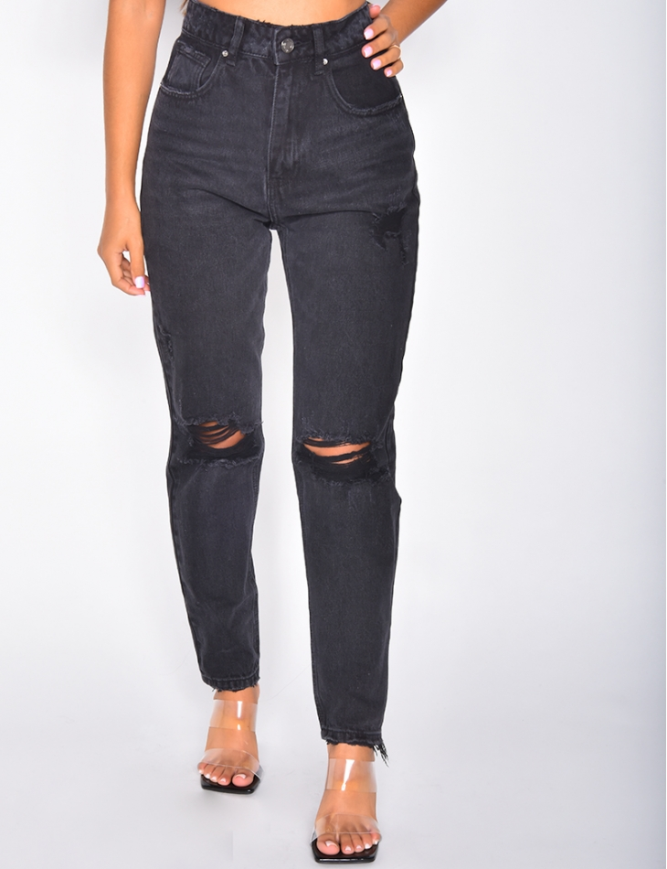 Mom jeans destroy