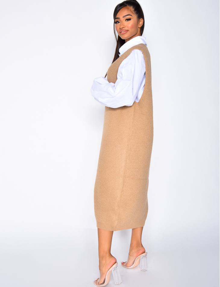 Robe pull sans manches