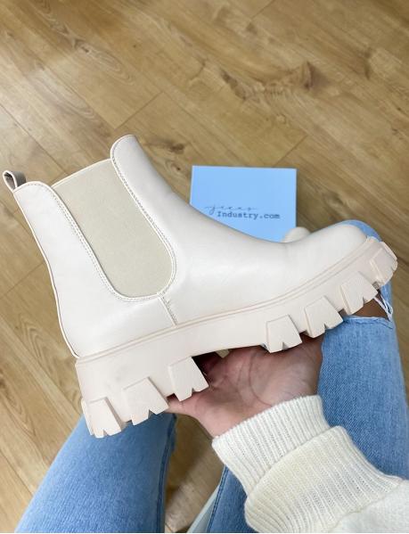 Chelsea boots à semelles chunky