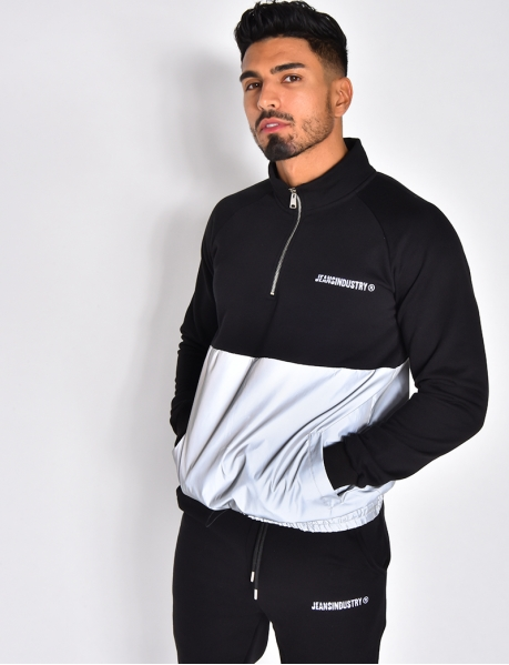 Sweatshirt with Reflective Lower Part