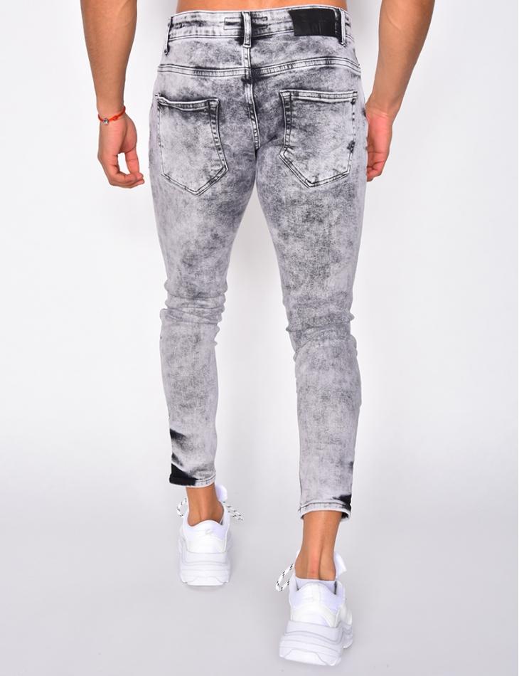 Jeans skinny délavé destroy