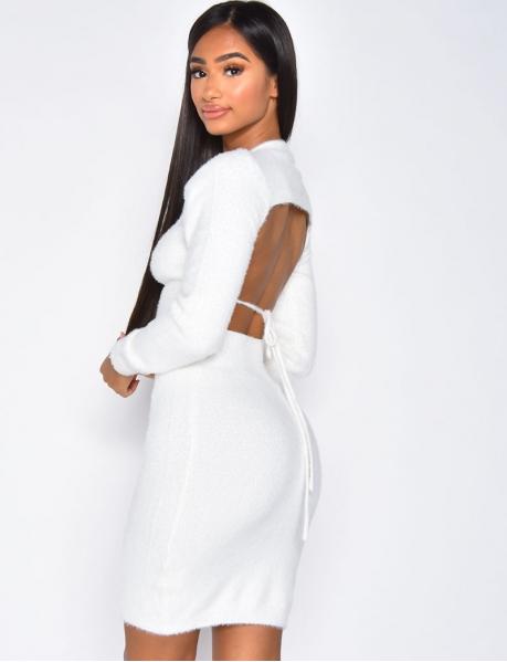 Kuschelweiches Kleid zum Binden