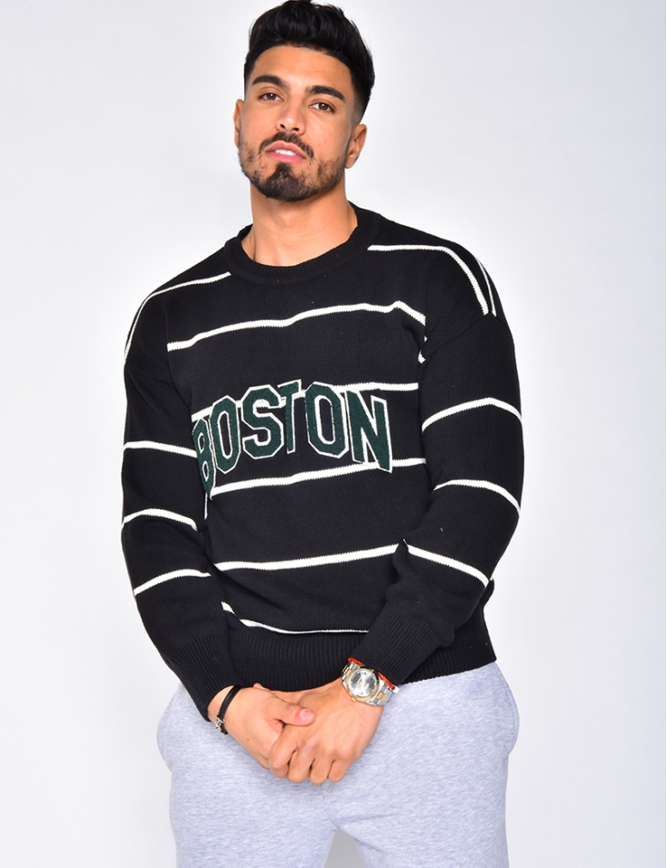 "Pull rayé ""Boston"""