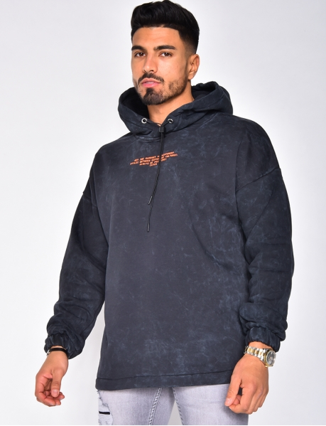 Hooded Sweatshirt with Writing