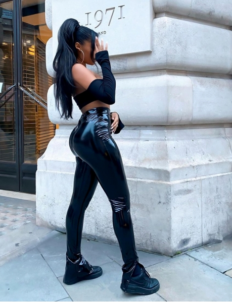 Vinyl Trousers with Slits