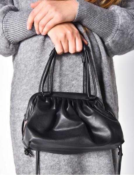 Handtasche aus mattem Kunstleder
