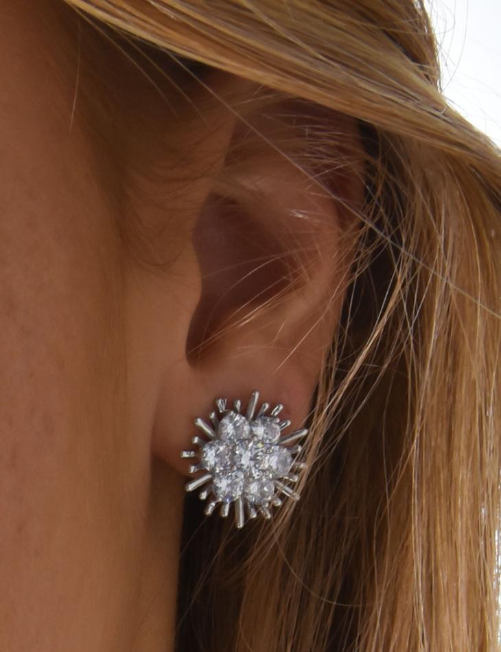Boucles d'oreilles éclat à strass