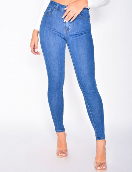 Jeans skinny taille haute push up