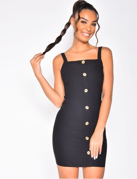Dress with Straps and Buttons