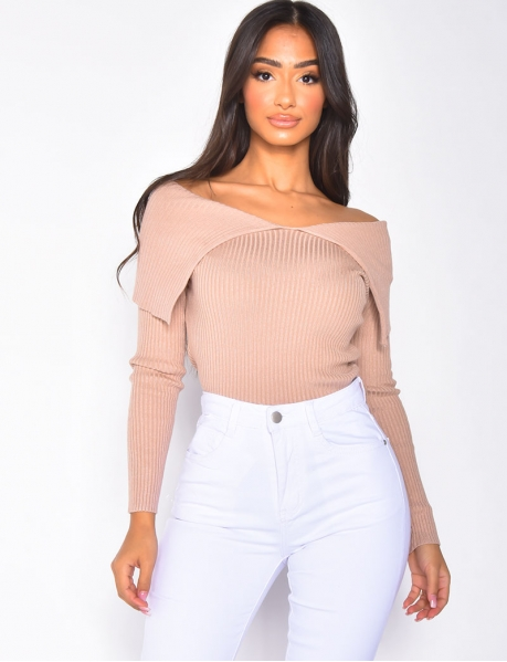 Short Ribbed Jumper