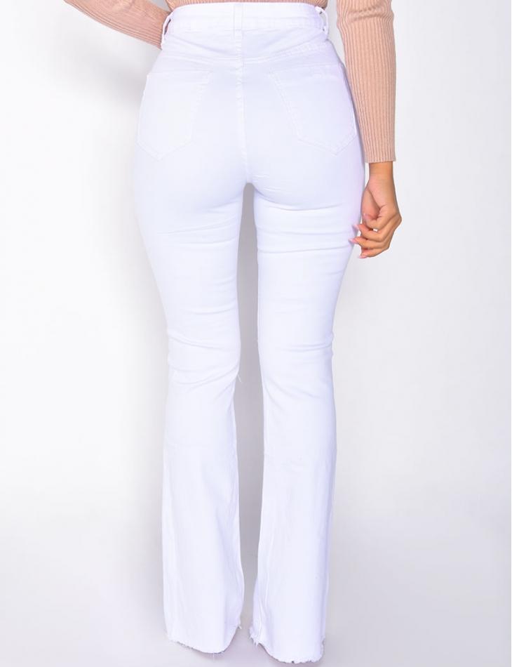 Jeans taille haute patte d'eph