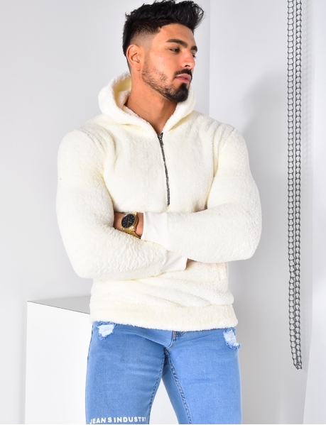 Super Soft Sweatshirt with Hood and Zip