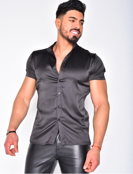 Men's Satin-Style Shirt
