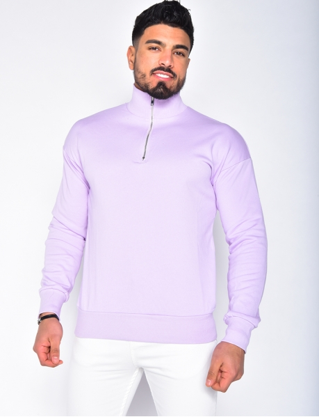 High Neck Jumper with Zip