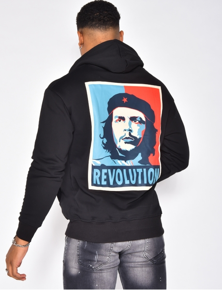 """REVOLTA"" hoodie with pocket"
