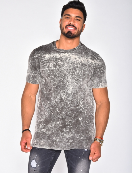 T-shirt basic chiné