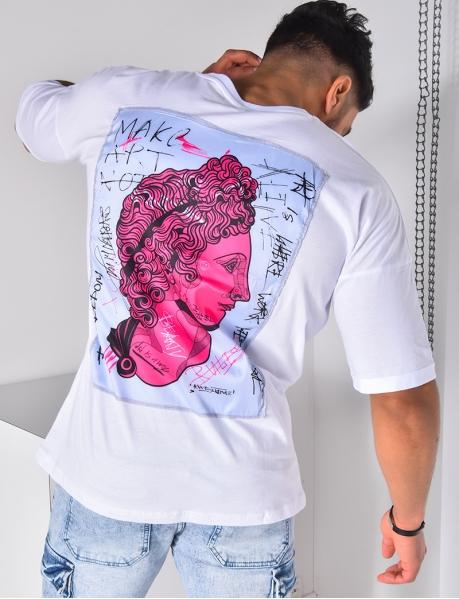 "T-shirt ""RULES"" à patch"