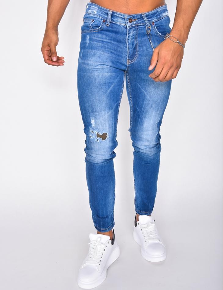 Jeans à chaine
