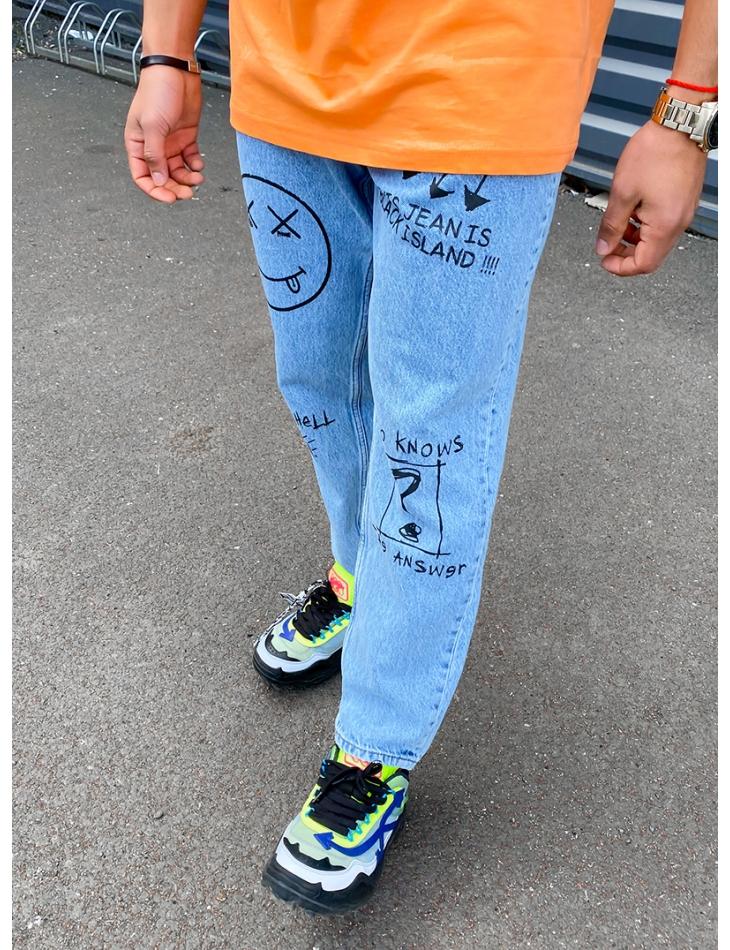 Jeans à graffitis