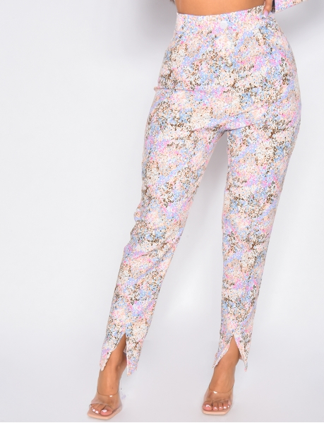 Pantalon de tailleur à fentes