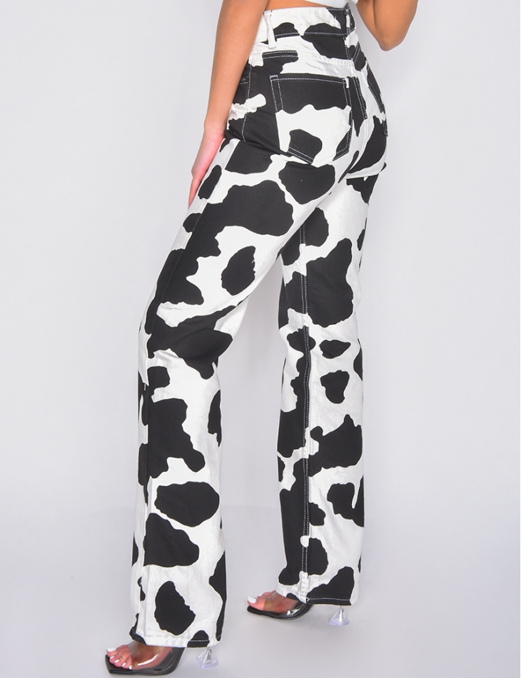Jeans motifs vache