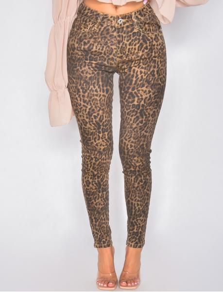 Jeans motif léopard