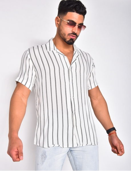 Chemise manches courtes à rayures